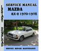 Thumbnail Mazda RX-2 1970-1978 Service Repair Manual