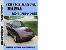 Thumbnail Mazda RX-7 1984-1985 Service Repair Manual