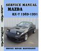 Thumbnail Mazda RX-7 1989-1991 Service Repair Manual
