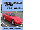 Thumbnail Mazda RX-7 1991-1993 Service Repair Manual