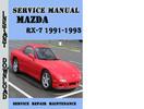 Thumbnail Mazda RX-7 1991-1993 Service Repair Manual