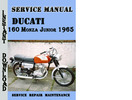 Thumbnail Ducati 160 Monza Junior 1965 Service Repair Manual