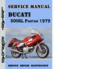 Thumbnail Ducati 500SL Pantah 1979 Service Repair Manual