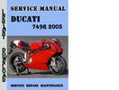 Thumbnail Ducati 749R 2005 Service Repair Manual