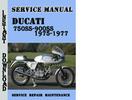 Thumbnail Ducati 750SS-900SS 1975-1977 Service Repair Manual