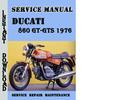 Thumbnail Ducati 860 GT-GTS 1976 Service Repair Manual