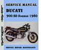 Thumbnail Ducati 900 SD Darmah 1980 Service Repair Manual
