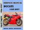 Thumbnail Ducati 1098 2007 Service Repair Manual