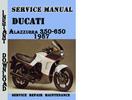 Thumbnail Ducati Alazzurra 350-650 1987 Service Repair Manual