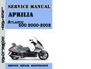 Thumbnail Aprilia Atlantic 500 2000-2002 Service Repair Manual