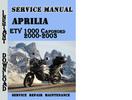 Thumbnail Aprilia ETV 1000 Caponord 2000-2003 Service Repair Manual