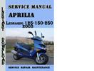 Thumbnail Aprilia Leonardo 125-150-250 2003 Service Repair Manual