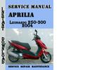 Thumbnail Aprilia Leonardo 250-300 2004 Service Repair Manual