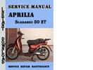 Thumbnail Aprilia Scarabeo 50 2T Service Repair Manual