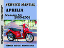 Thumbnail Aprilia Scarabeo 50 2000-2001 Service Repair Manual