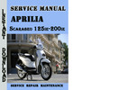 Thumbnail Aprilia Scarabeo 125ie-200ie Service Repair Manual