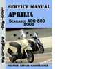 Thumbnail Aprilia Scarabeo 400-500 2006 Service Repair Manual