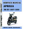 Thumbnail Aprilia SR 50 1997-1999 Service Repair Manual