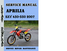 Thumbnail Aprilia SXV 450-550 2007 Service Repair Manual
