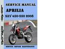 Thumbnail Aprilia SXV 450-550 2008 Service Repair Manual