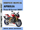 Thumbnail Aprilia Tuono R Factory 2007 Service Repair Manual