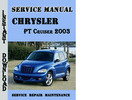 Thumbnail Chrysler PT Cruiser 2003 Service Manual