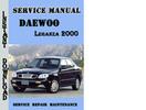 Thumbnail Daewoo Leganza 2000 Service Repair Manual