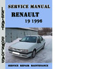 Thumbnail Renault 19 1996 Service Repair Manual Pdf Download