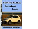 Thumbnail SsangYong Korando Service Repair Manual