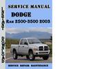 Thumbnail Dodge Ram 2500-3500 2003 Service Repair Manual