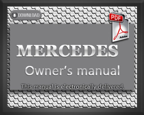 1994 mercedes benz sl320 sl500 sl600 r129 owners manual for Mercedes benz service manual free download