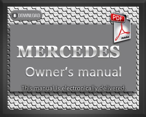 1998 mercedes benz sl500 sl600 r129 owners manual for Mercedes benz r129 service repair workshop manual