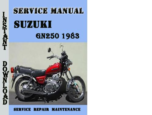 Suzuki Gn250 1983 Service Repair Manual Pdf Download