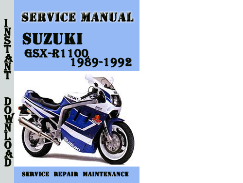 Suzuki Gsx-r1100 1989-1992 Service Repair Manual Pdf