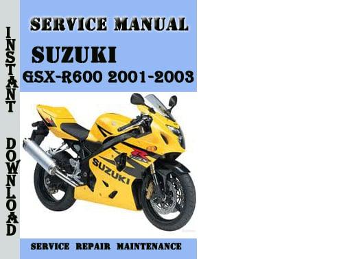 suzuki gsx r600 2001 2003 service repair manual pdf. Black Bedroom Furniture Sets. Home Design Ideas