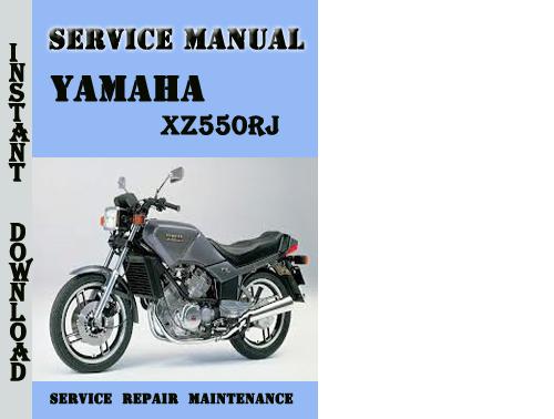 Yamaha Xz550rj Service Repair Manual Pdf Download