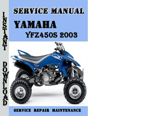 yamaha yfz450s 2003 service repair manual pdf download. Black Bedroom Furniture Sets. Home Design Ideas