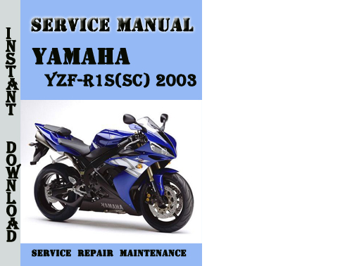 yamaha yzf r1s sc 2003 service repair manual pdf download. Black Bedroom Furniture Sets. Home Design Ideas