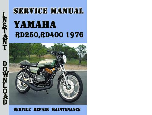 Yamaha Rd250 Rd400 1976 Service Repair Manual Pdf Download
