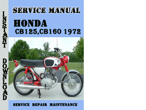 Honda Cb125 Cb160 1972 Service Repair Manual Pdf Download
