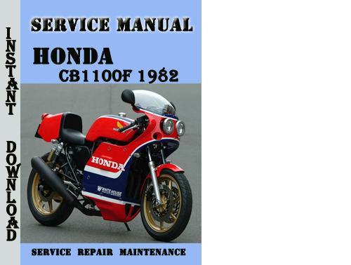 Honda Cb1100f 1982 Service Repair Manual Pdf Download