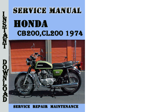 honda cb200 cl200 1974 service repair manual pdf download CB450 Cafe Wiring Harness