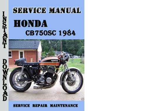 honda cb750sc 1984 service repair manual pdf download