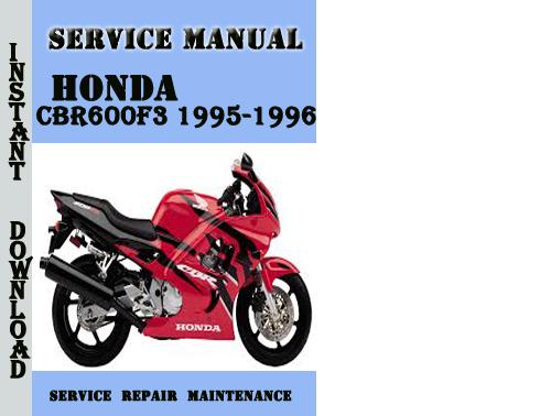 honda cbr 600 f4 service manual pdf