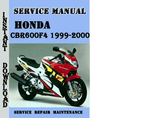 honda cbr600f4 1999 2000 service repair manual pdf