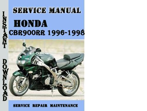 honda cbr900rr 1996 1998 service repair manual pdf. Black Bedroom Furniture Sets. Home Design Ideas