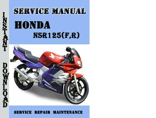 Honda Nsr125 F R Service Repair Manual Pdf Download