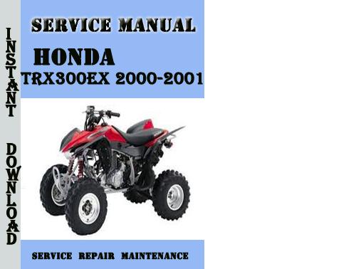 honda trx 300 service manual pdf