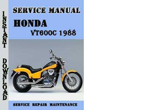 Honda Vt600c 1988 Service Repair Manual Pdf Download