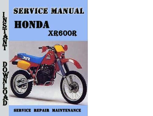 Honda Xr600r Service Repair Manual Pdf Download